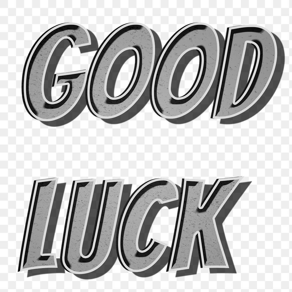 Good Luck Png Word Art Typography Free Image By Rawpixel Com Namcha Word Art Typography Word Art Typography