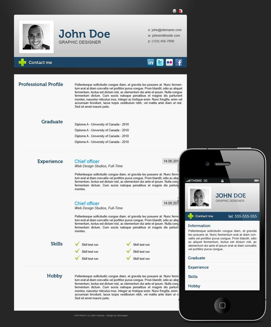 54 Impressive and Well-Designed Resume Examples For Inspiration | Vida