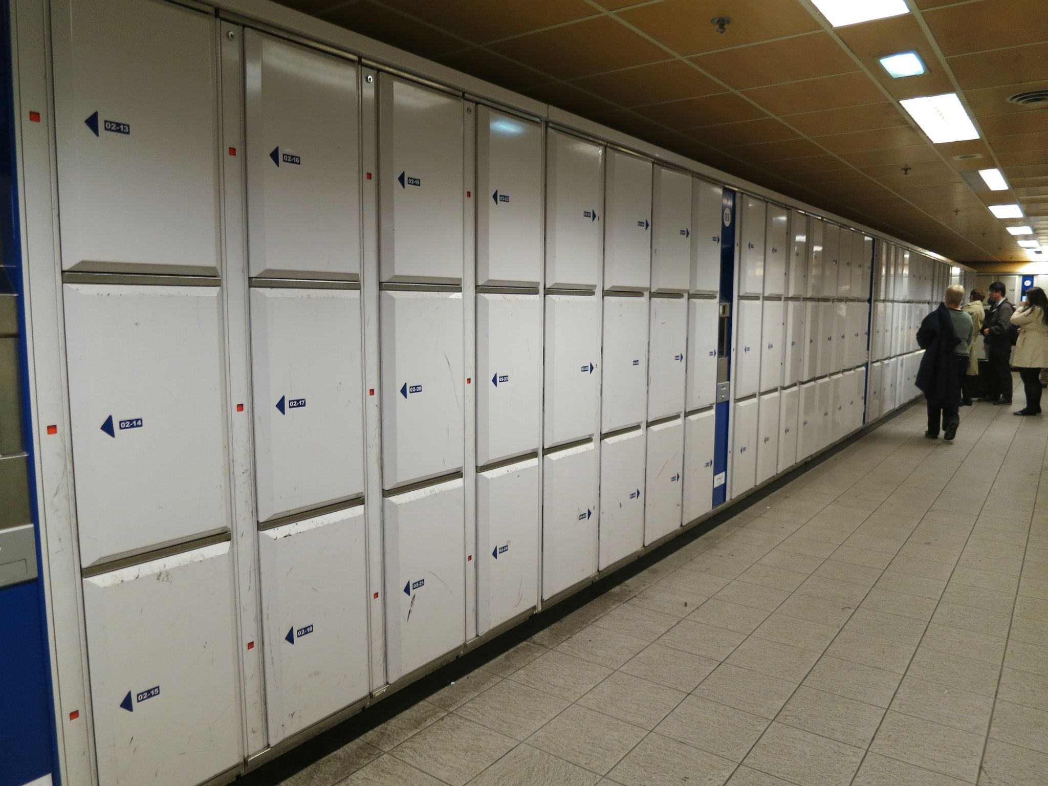 In The East Wing Of Station You Will Find Lockers To Your Luggage