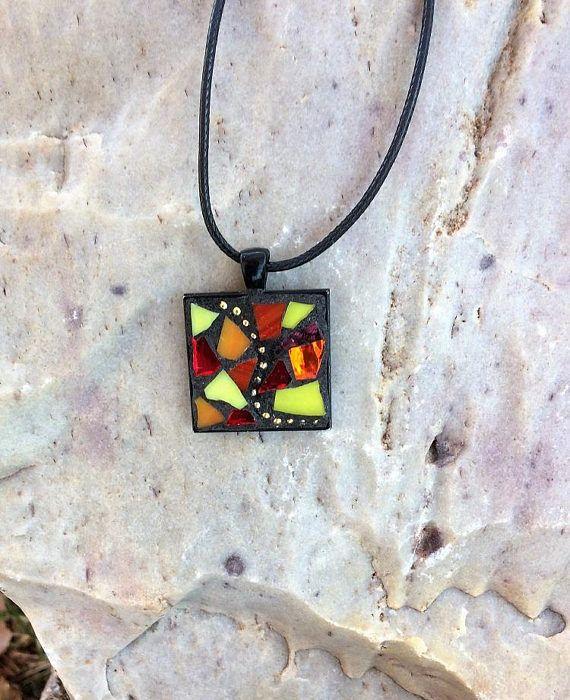 e6fdaafa03d Mosaic Jewelry/Mosaic Pendant/Stained Glass Necklace Pendant ...