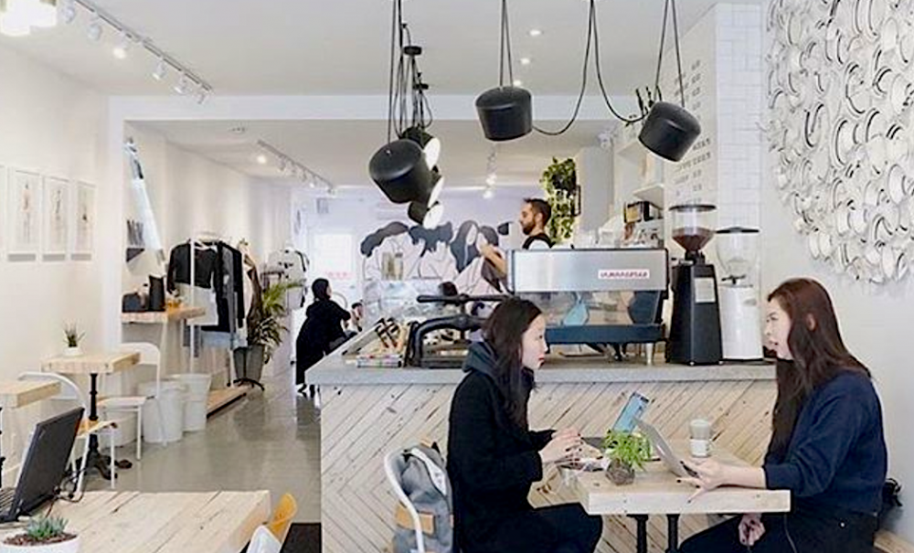 This Adorable Toronto Coffee Shop Doubles As A Boutique And Art Gallery Coffee House Cafe Coffee Shop Art Gallery