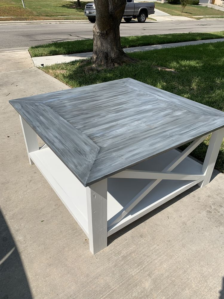 How To Build A Diy Square Farmhouse Coffee Table Coffee Table Farmhouse Diy Farmhouse Coffee Table Coffee Table