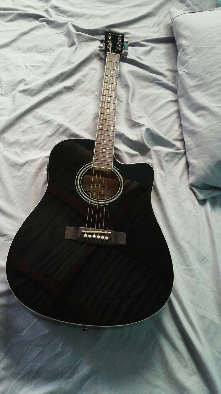 Beautiful Black Acoustic Guitar Acoustic Acoustic Guitar Photography Aesthetic Black Guitar Black Acoustic Guitar Guitar Guitar Photography