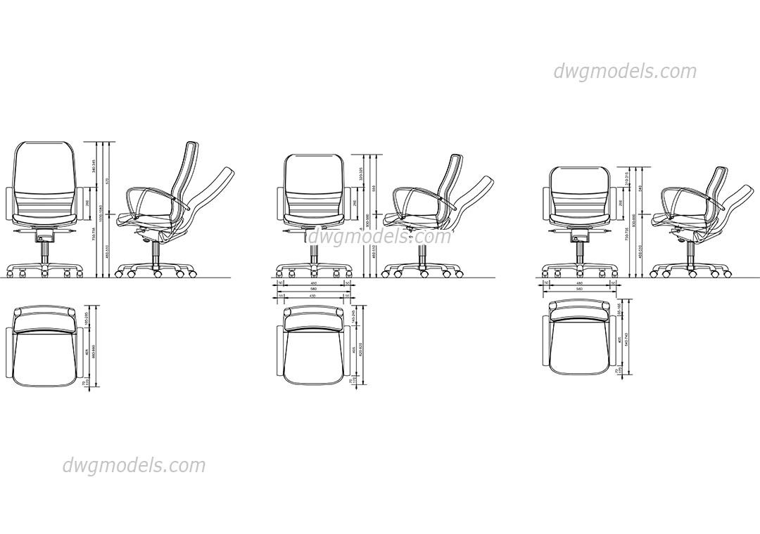 Office Chair Cad Blocks Free Dwg File 07 Stations