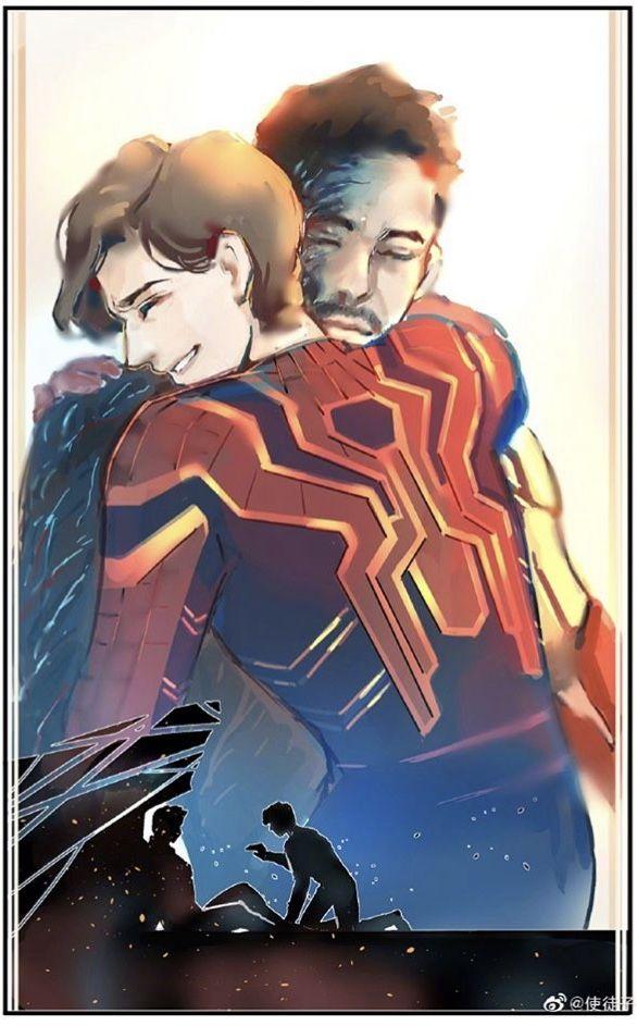Tony Stark And Peter Parker Avengers Endgame Marvel Superheroes Marvel Art Marvel Fan Art