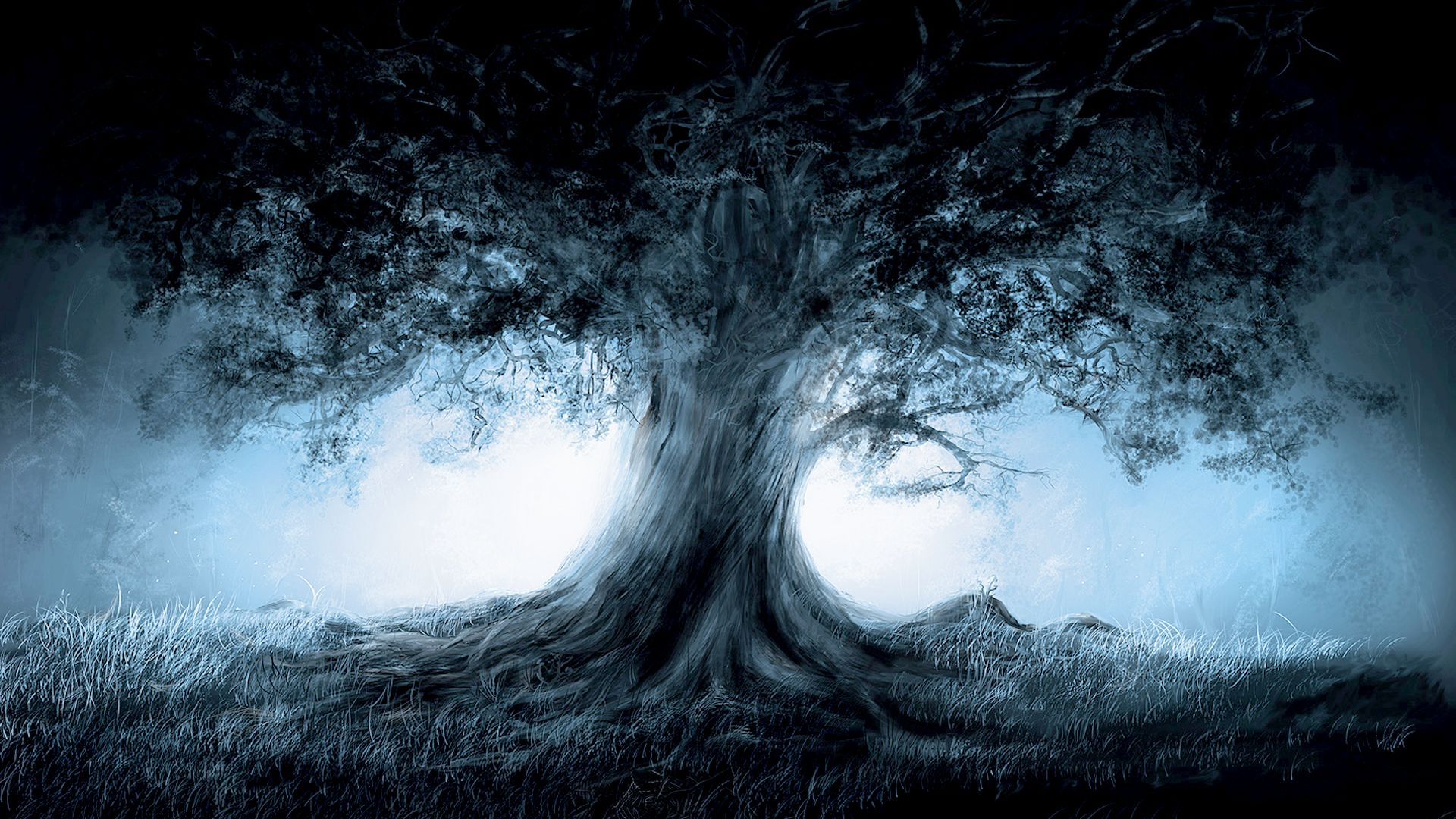 magical art | fantasy magic tree art hd, widescreen wallpaper