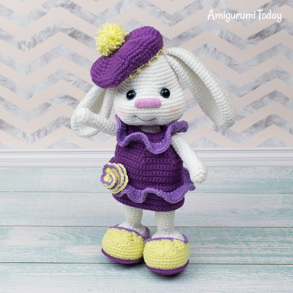 Pretty Bunny With Floppy Ears Crochet Pattern Crochet Bunny
