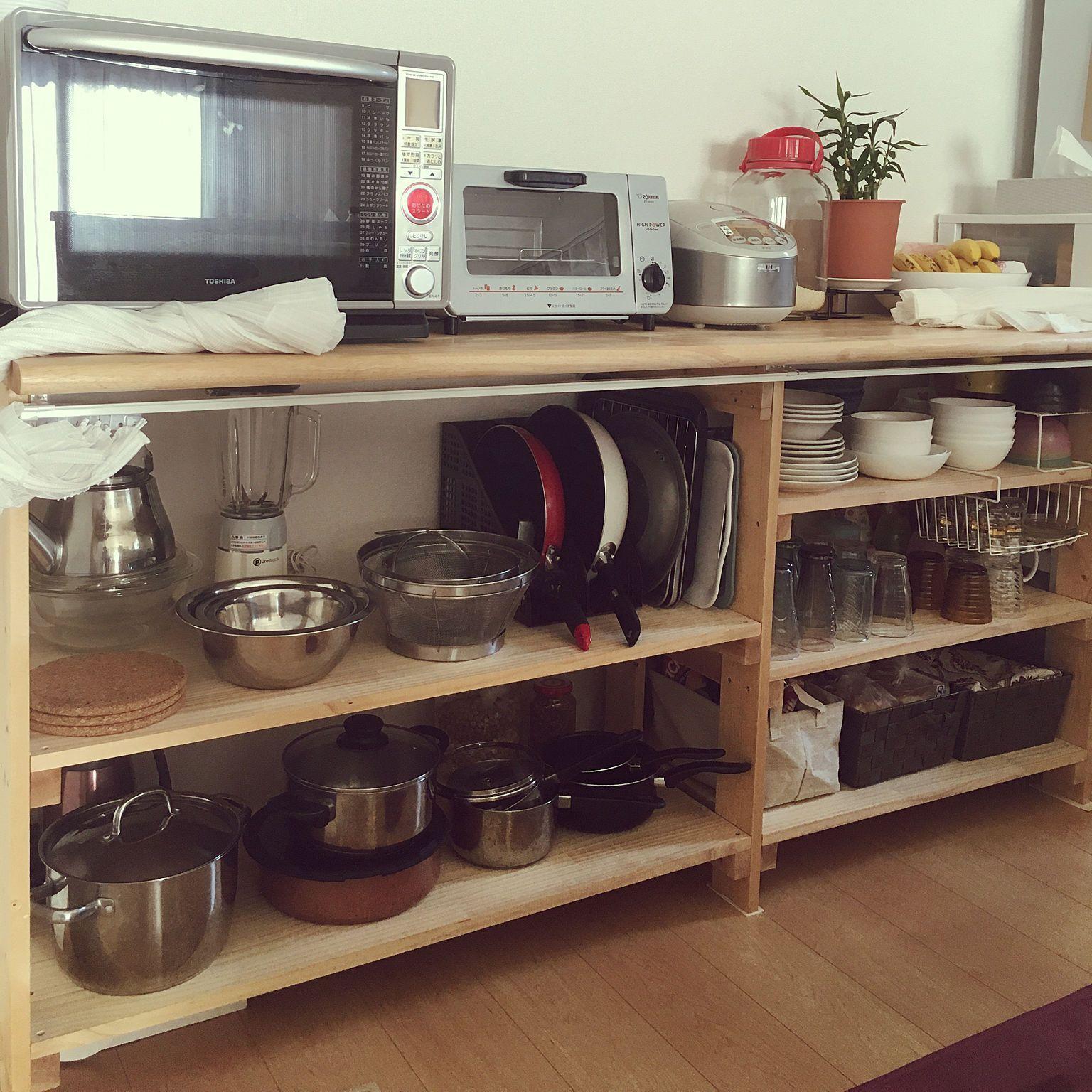 キッチン キッチン背面収納 食器棚diy 食器棚収納 キッチン背面 など