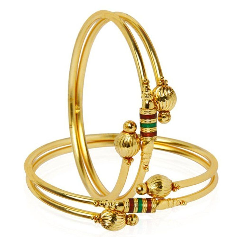 Traditional bollywood gold plated bracelet bangle set for girls and