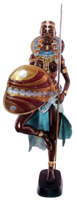 Femme Africaine - statue Massaï ebay.fr