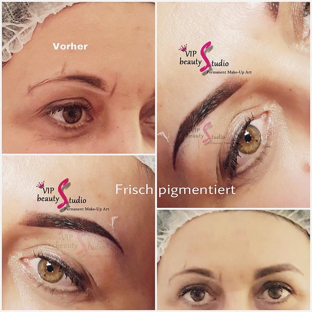 Permanent Make Up Augenbrauen Schattierung Powder Methode Nach Der Behandlung Ist Die Pigme In 2020 Permanent Make Up Augenbrauen Make Up Augenbrauen Augenbrauen