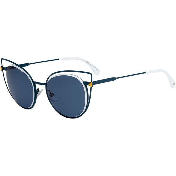5c6856bea3b Fendi WIRE RIM SUNGLASSES ( 176) ❤ liked on Polyvore featuring accessories