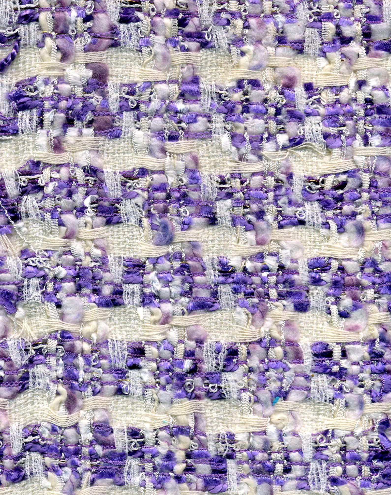 Lilac Linton Weave Fabric Silk And Wool Fabric Tweed