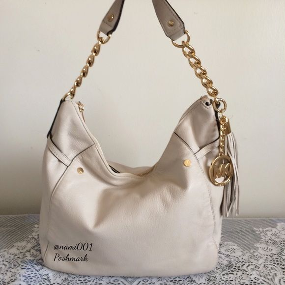 Michael Kors Cream Colored Hobo Purse Crossbody | Stains, Colors ...