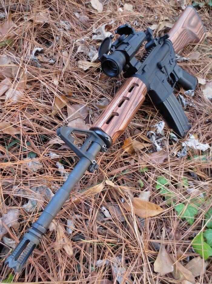 wood stock ar 15 carbine guns and knives pinterest guns