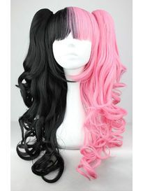 Pink and Black Split Twintail Wig