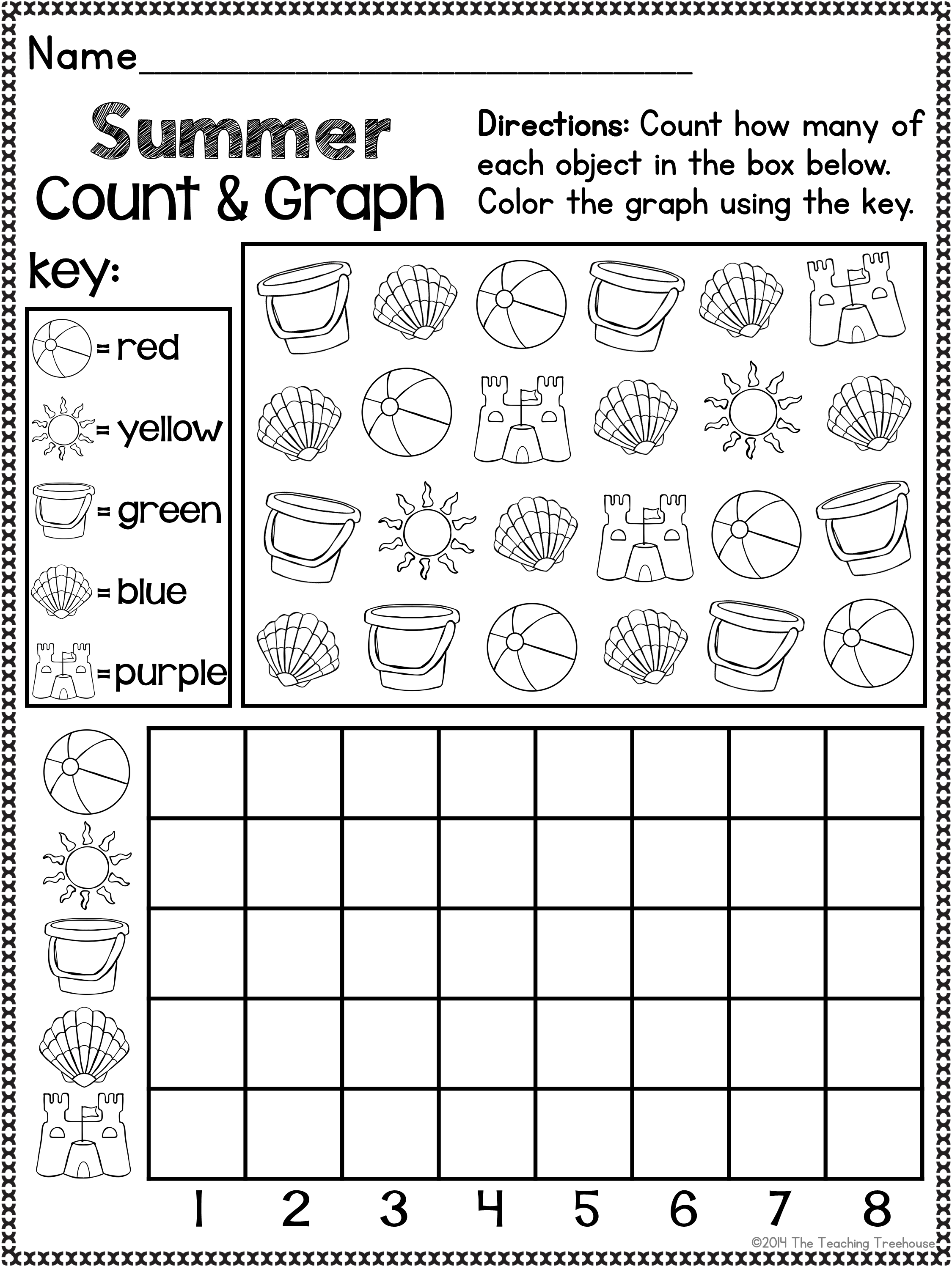 Summer Kindergarten Pack Print Amp Go No Prep Ccss Aligned