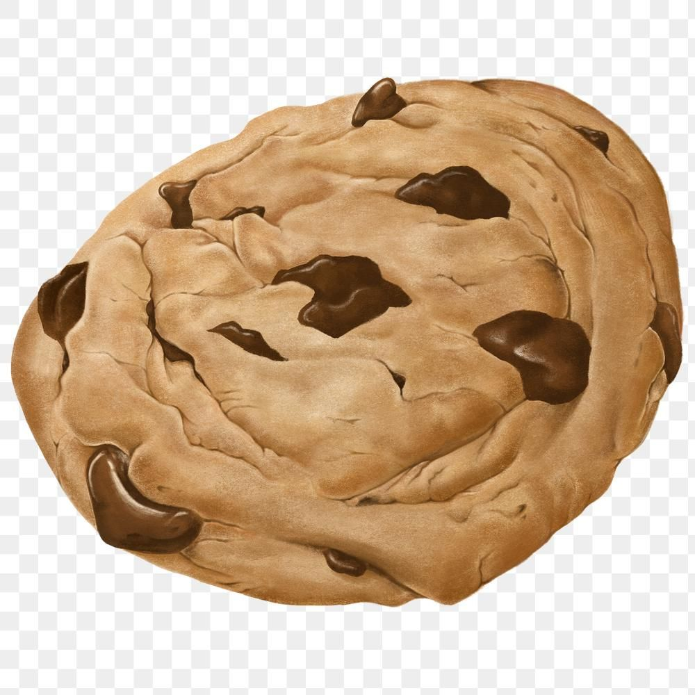 Hand Drawn Chocolate Chip Cookie Transparent Png Free Image By Rawpixel Com Noon Chocolate Chip Cookies Chocolate Cookie Recipes Cookie Vector