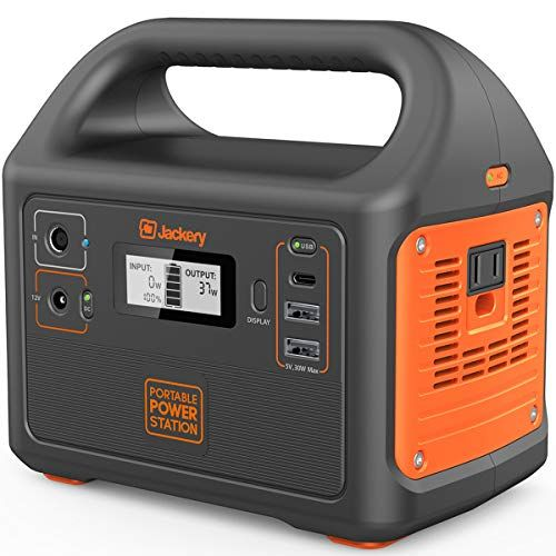 12V Car USB Output Off-Grid Power Supply for CPAP Backup Camping Emergency Rockpals 250-Watt Portable Generator Rechargeable Lithium Battery Pack Solar Generator with 110V AC Outlet