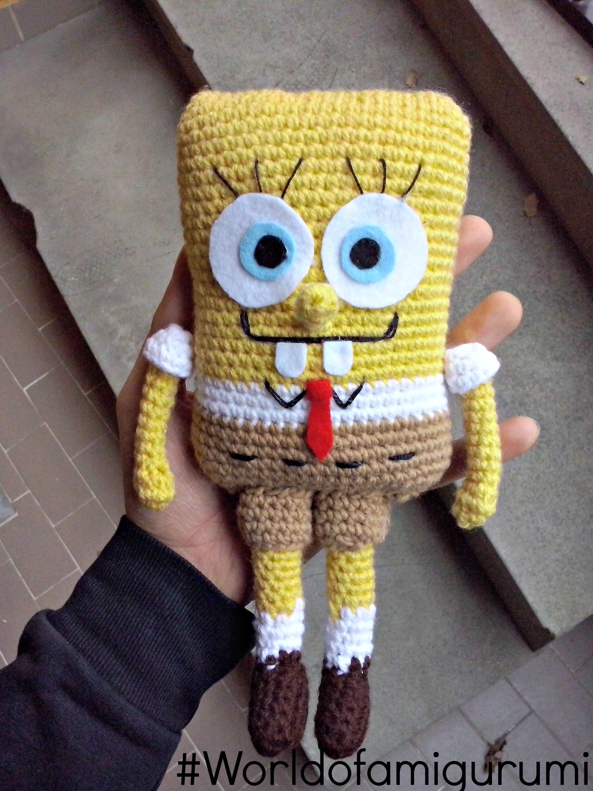 Spongebob amigurumi, il tutorial è su youtube!!   World OF Amigurumi ...