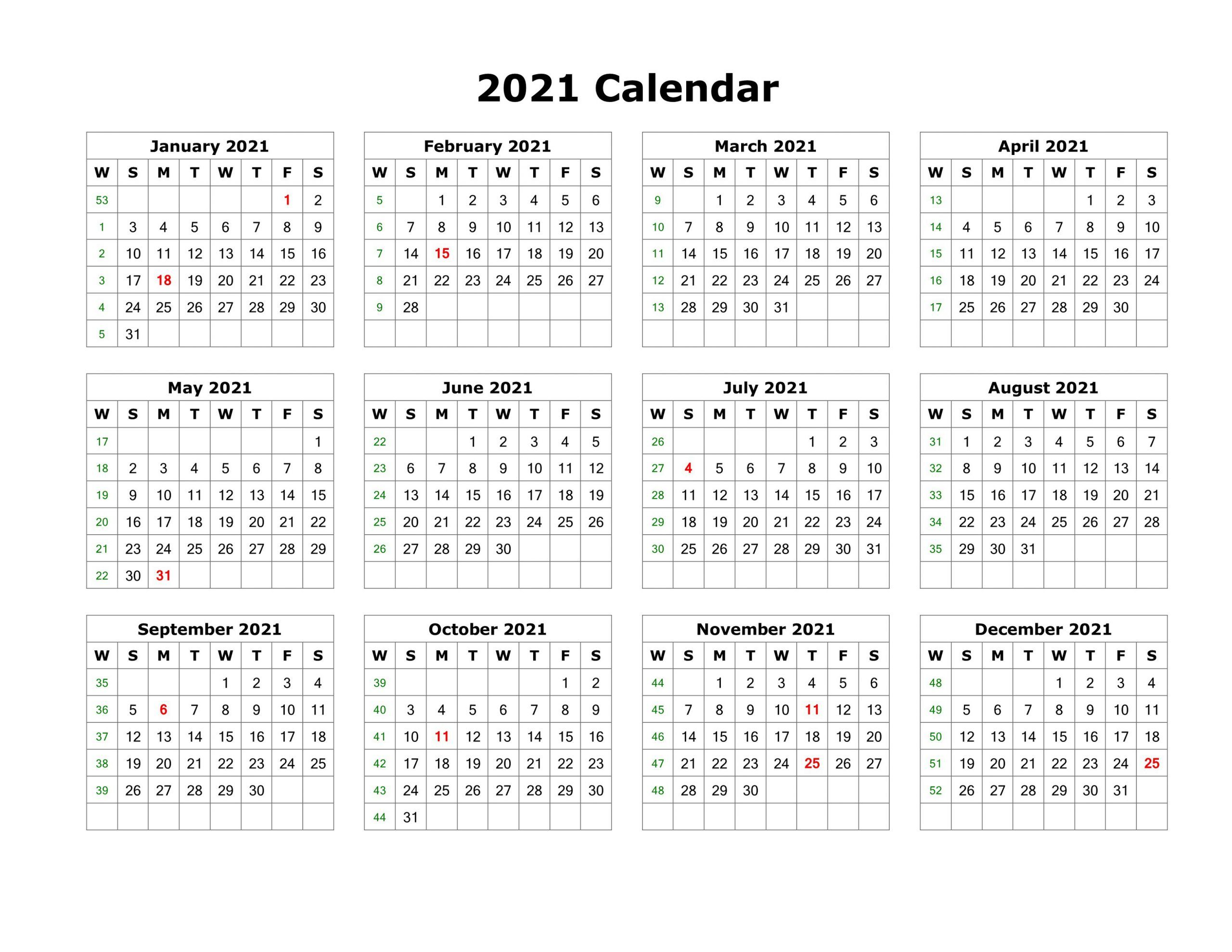 Blank Calendar Template Word 2021 Various Months Motivasi