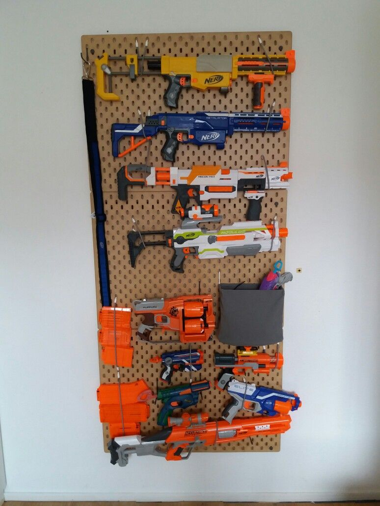 Room With Nothing In It: Little Mancave: Nerf Or Nothing Ikea Skadis