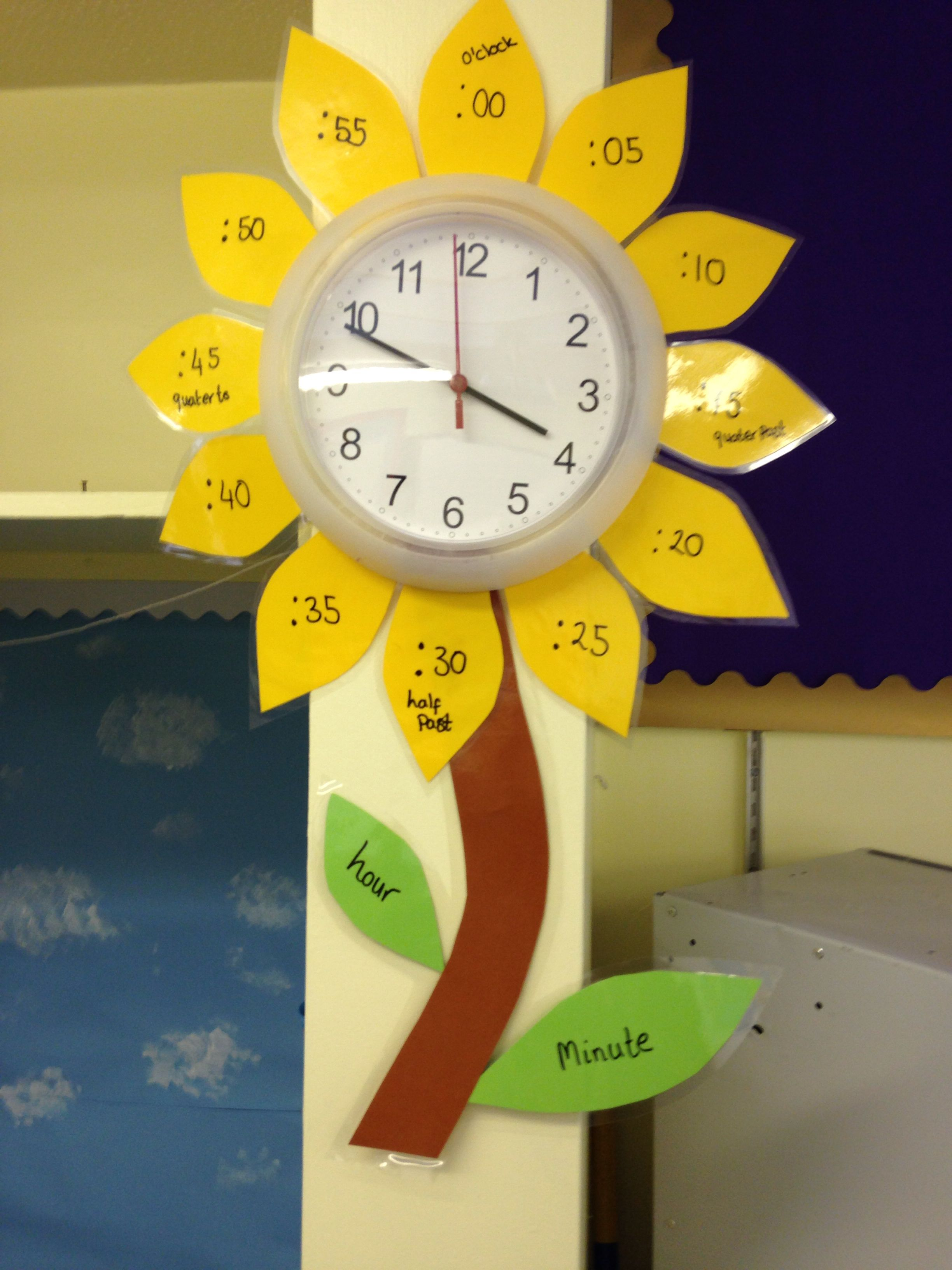 Flower clock Helping children learn to tell