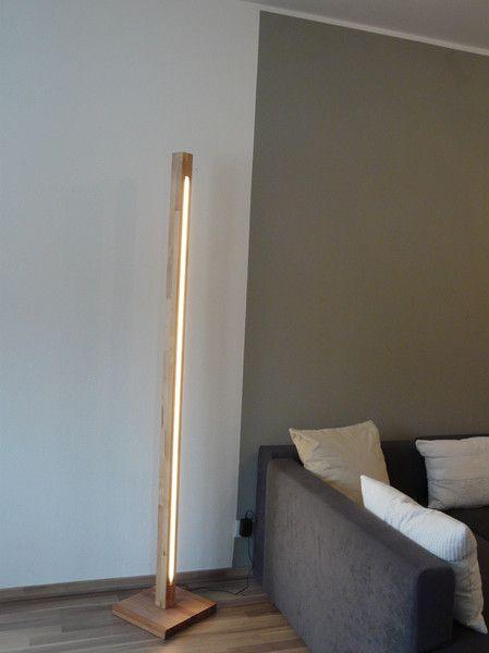 Stehlampen Led Lampe Stehlampe Holz Ein Designerstuck Von Peka