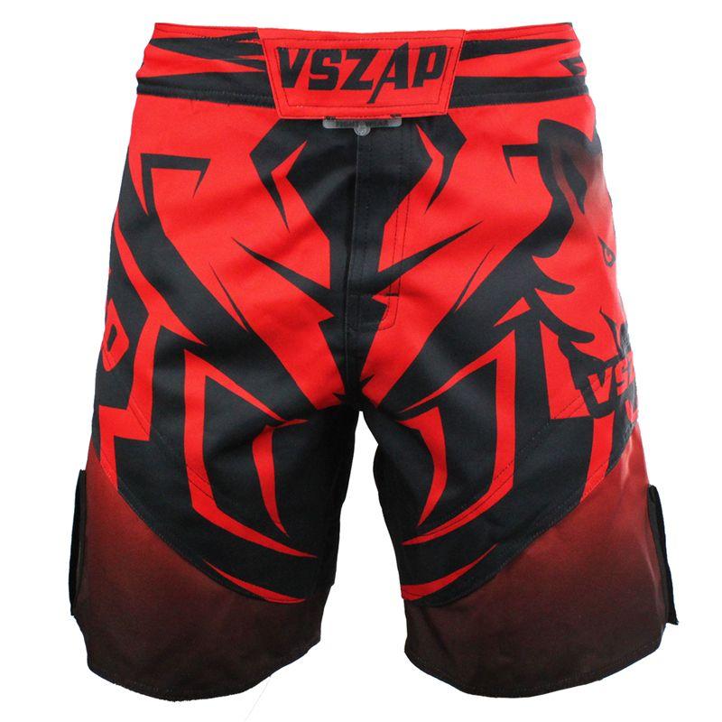 Vszap Red Wolf Seris Kick Boxing Shorts For Kicking Kickboxing Twins Punching Grabbling Mma Muay Thai Short Tr Shorts Mma Ropa Elegante Hombre Hombres Crossfit