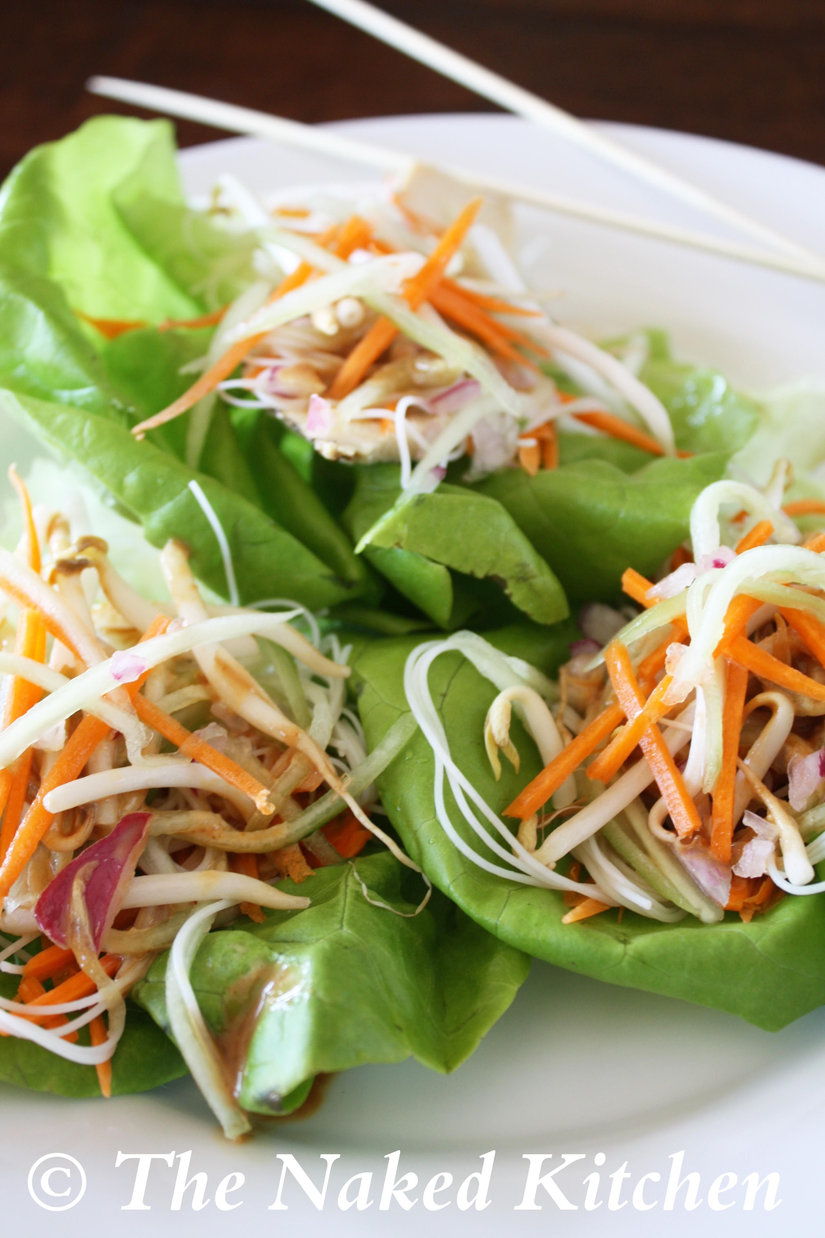 Thai lettuce wraps recipe chicken