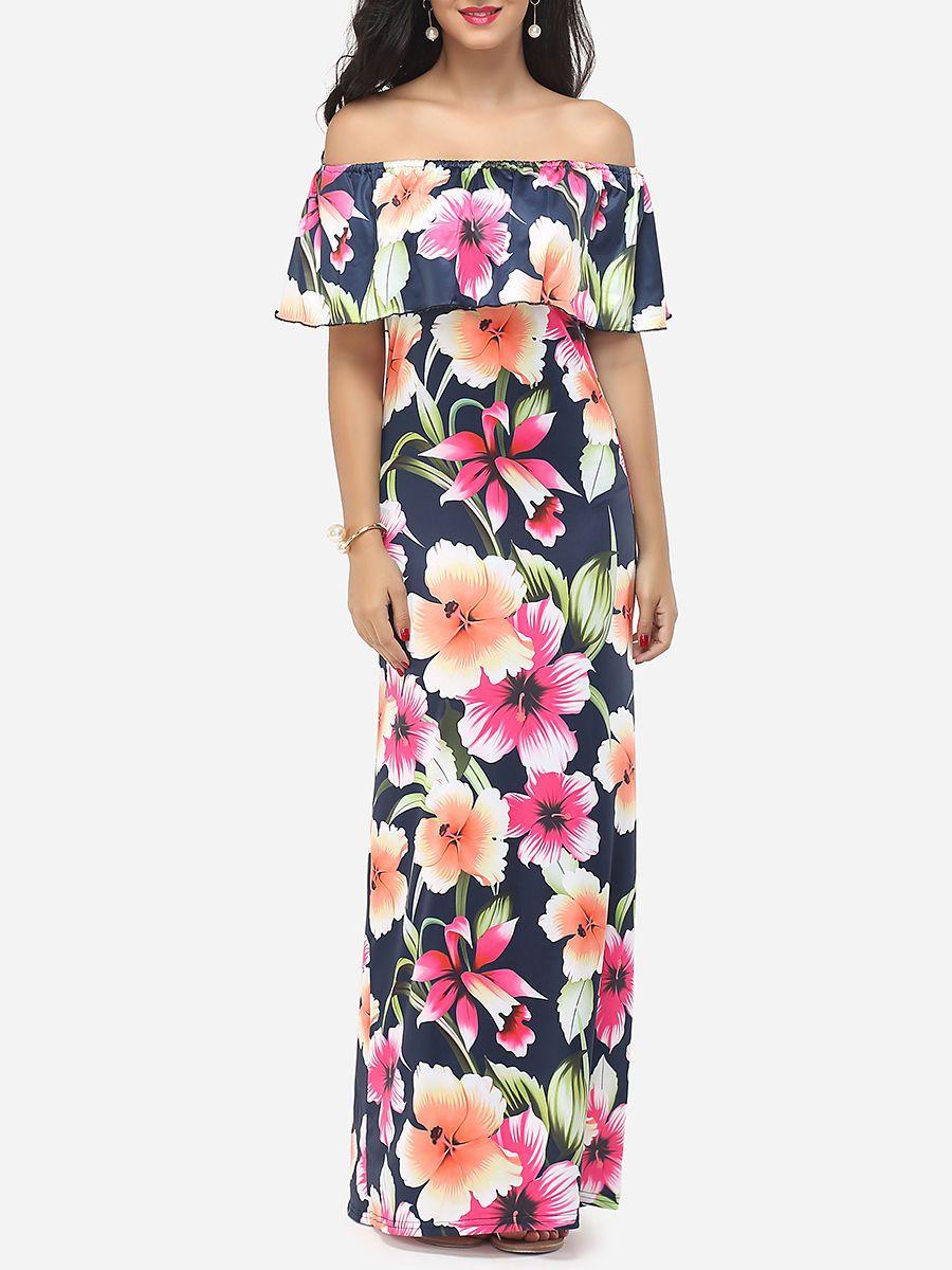 Adorewe fashionmia maxi dresses fashionmia cape sleeve off