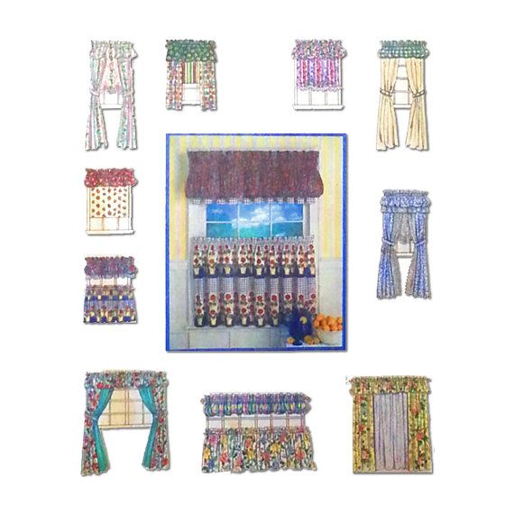 Curtain Sewing Pattern, Window Treatments, Drapes, Shades, Cafe ...