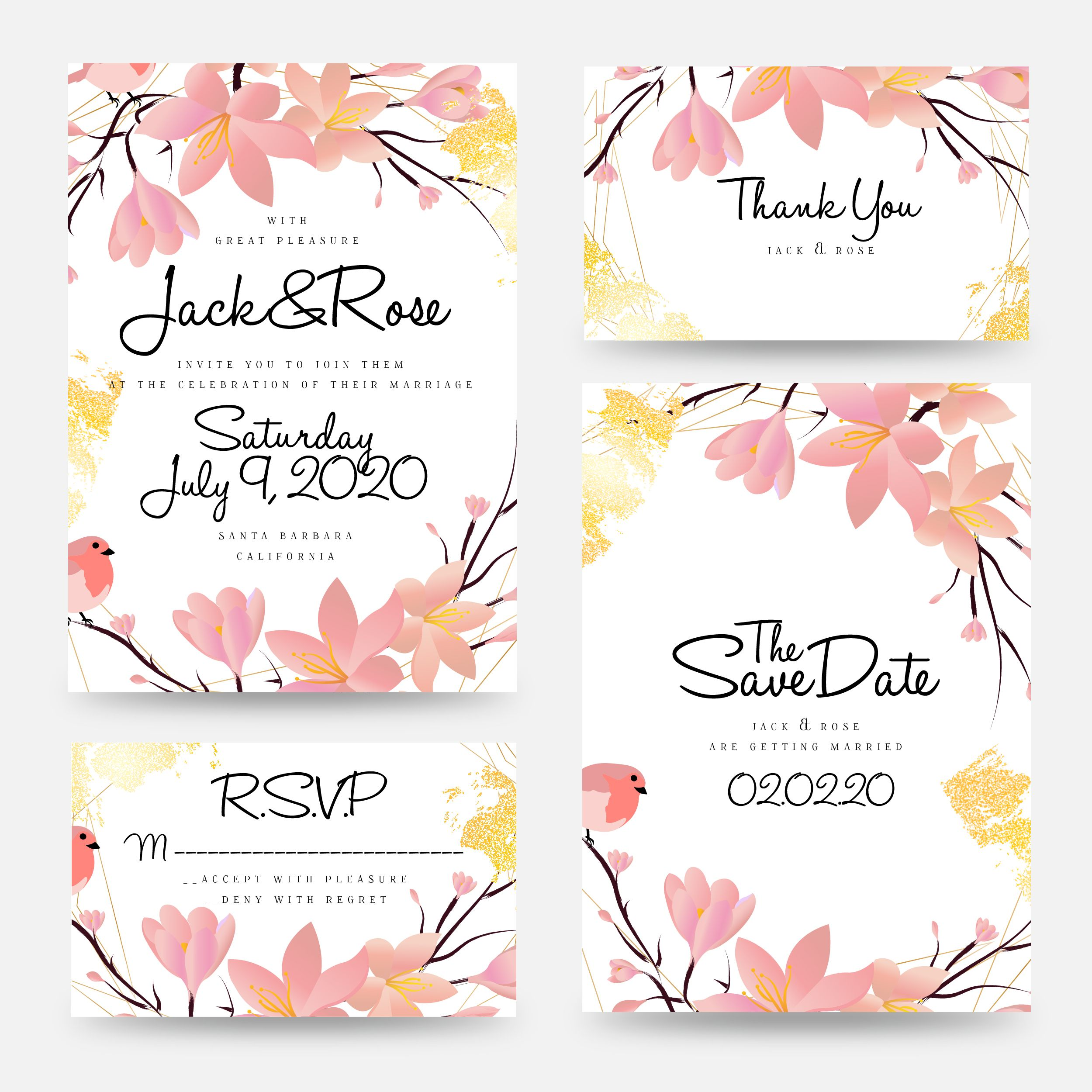 Wedding Invitation Card Template Collection In 2020 Wedding Invitation Card Template Floral Wedding Invitation Card Flower Wedding Invitation