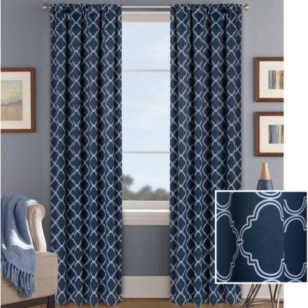 7f50d8349c317715b27868d4678a1ef9 - Better Homes & Gardens Metallic Foil Trellis Curtain Panel