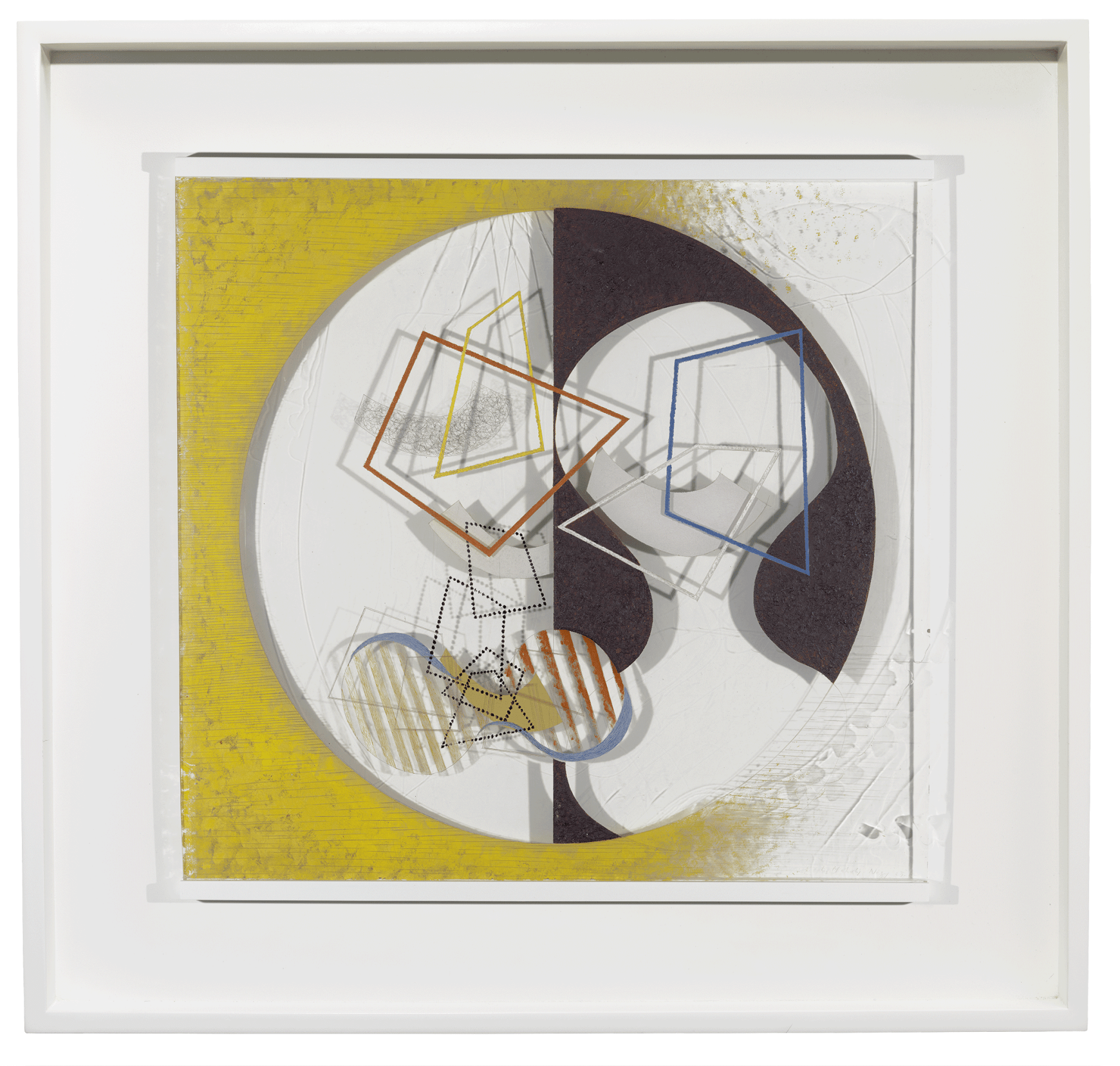 László Moholy-Nagy, Space Modulator, 1939–45. Oil and incised lines ...