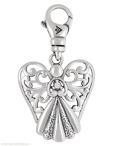 Cubic Zirconia, Sterling Silver.