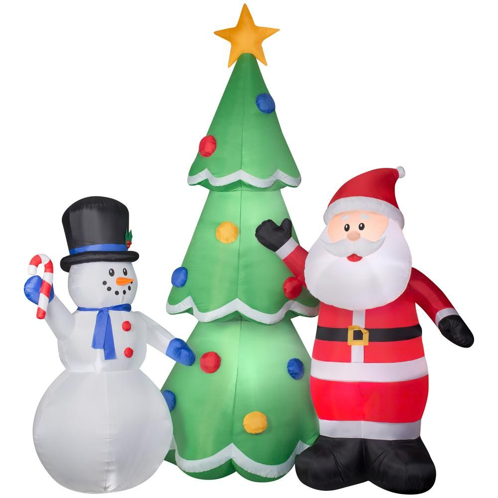 National Tree Company 13 Ft Inflatable Holiday Trio National Christmas Tree Snowman Christmas Tree