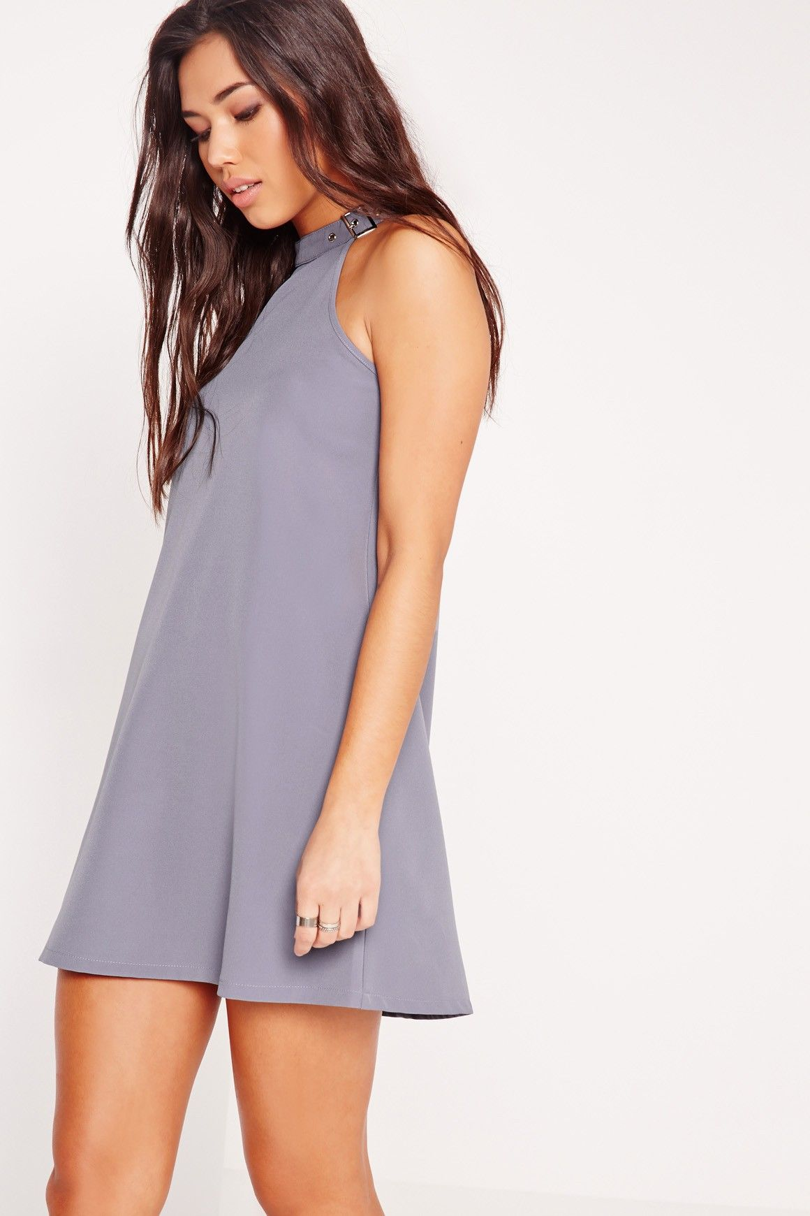 Shift your look up a notch in this buckled beaut the shift style is
