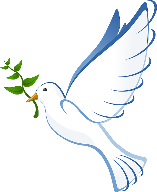 free image on pixabay dove flying peace olive branch symbols rh pinterest com peace dove with olive branch clip art christmas peace dove clip art