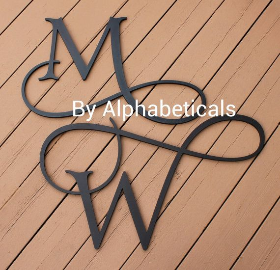 Initial Monogram Initials Wall Decor Wall Letters Wooden Letters