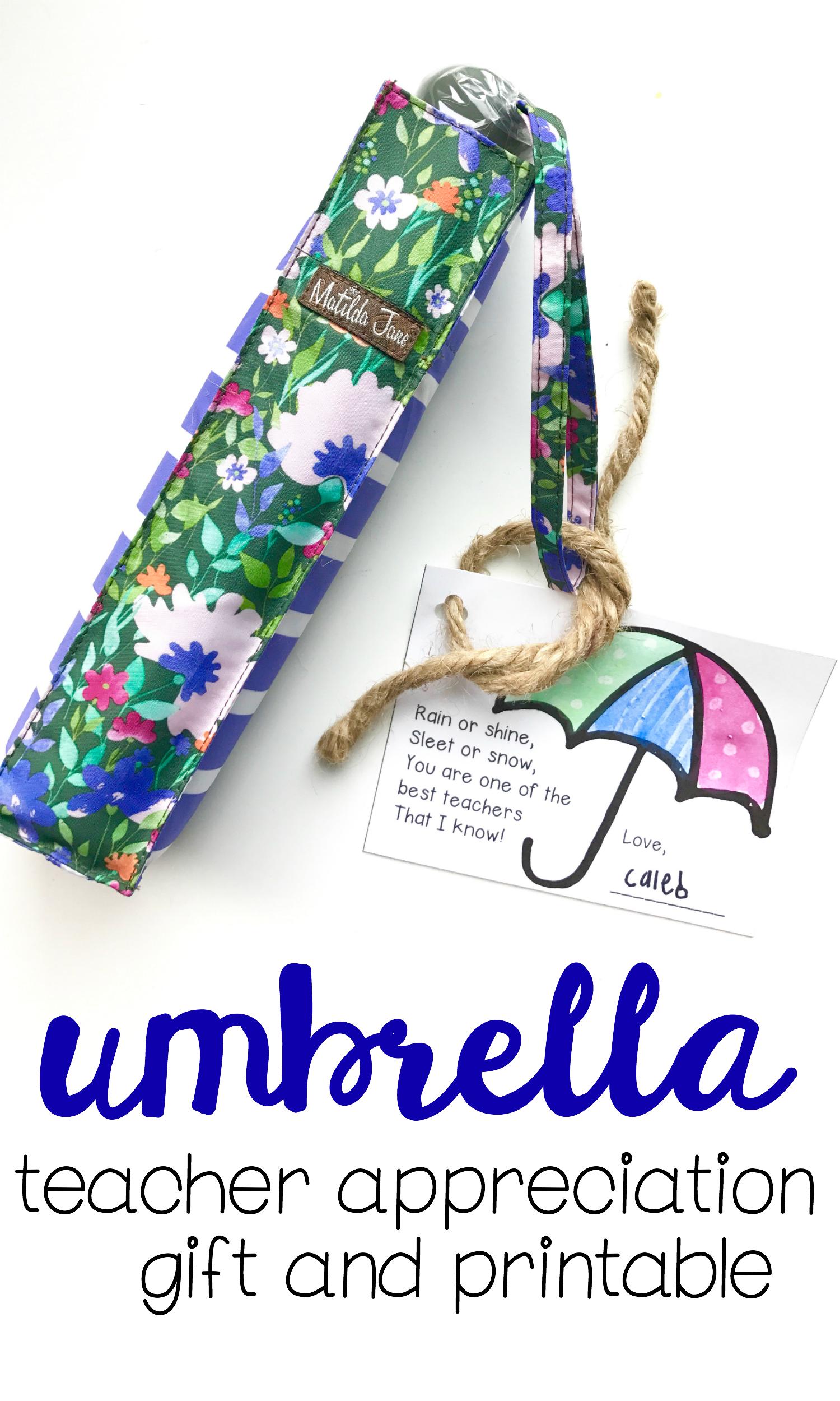 Teacher Appreciation T Umbrella And T Tag
