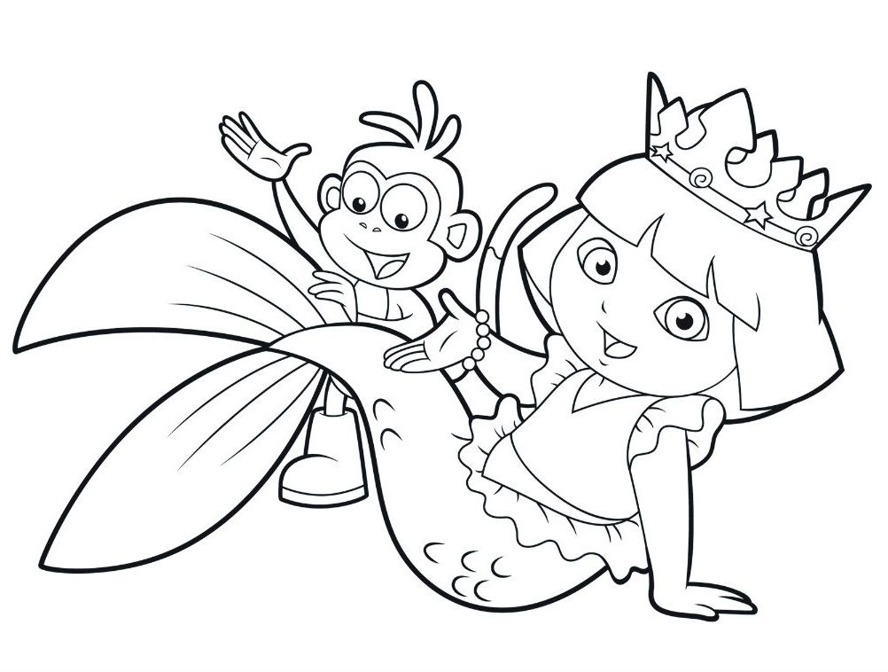 Wonderful Dora The Explorer Coloring Pages Procoloring Com