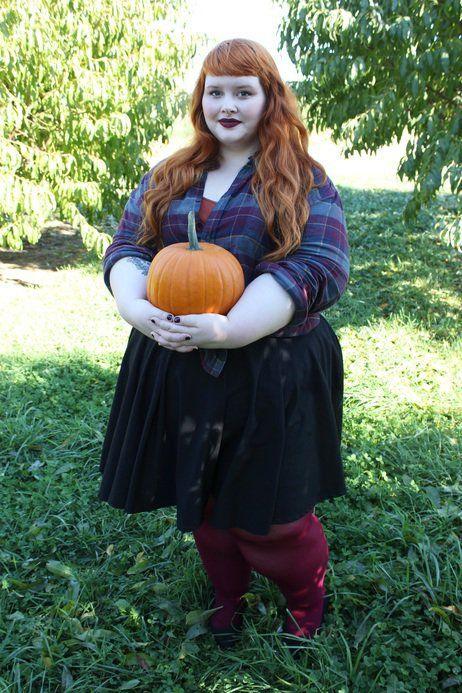 Pumpkin + plaid = fall fun