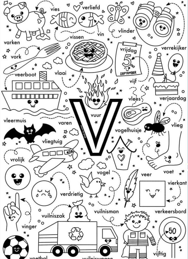 Letter V In 2020 Letterherkenning Spelletjes Letterherkenning Alfabet Boek