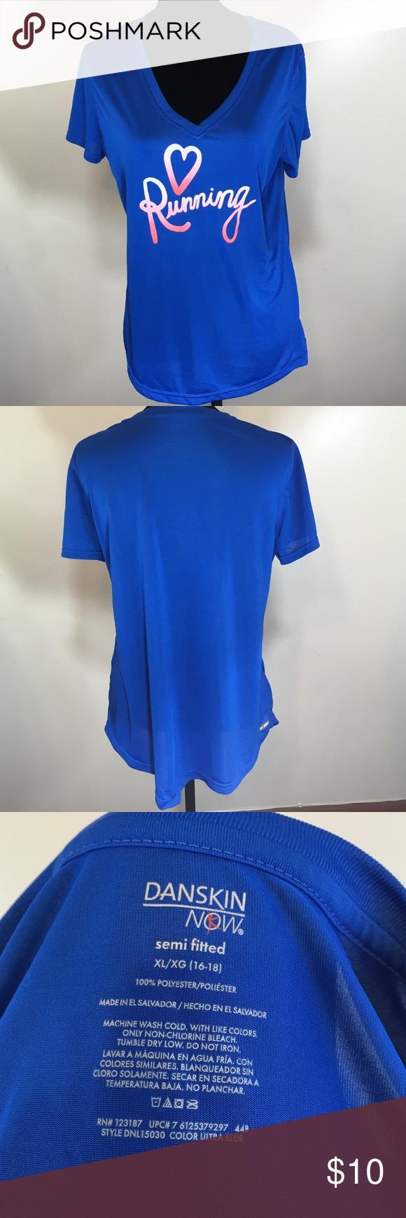 DANSKIN NOW ❤️ Running Shirt Semi-fitted (16-18) Dri More Short Sleeve. EUC Danskin Now Tops Tees - Short Sleeve