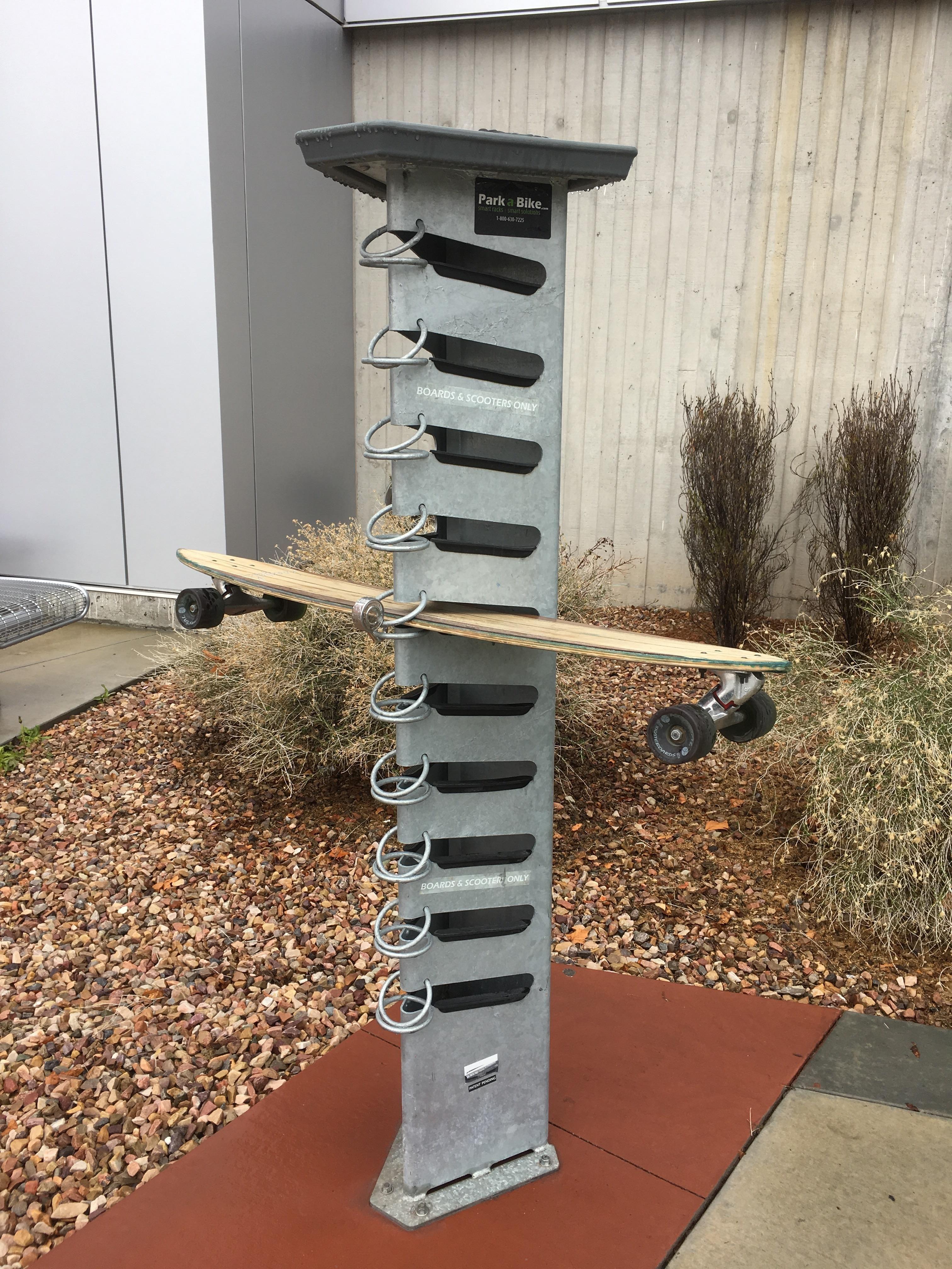 Lockable skateboard parking httpsifttt2echzor