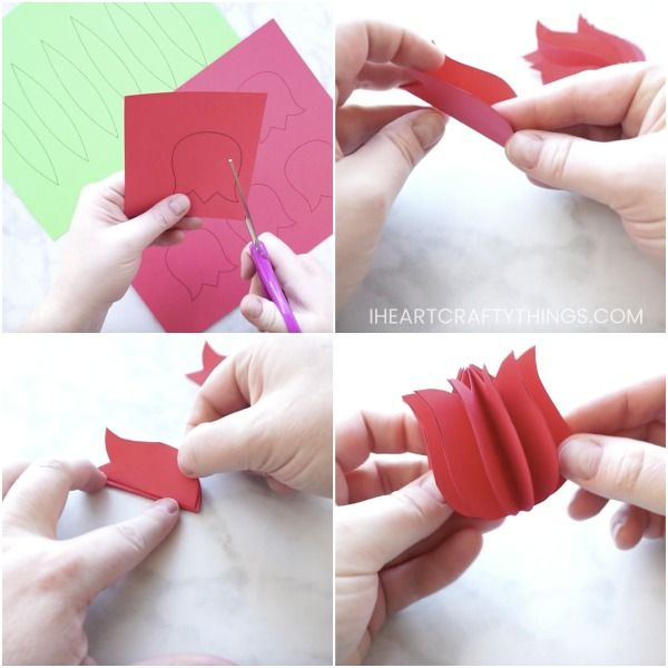 Gorgeous 3d Paper Tulip Flower Craft Just For Kids Spring