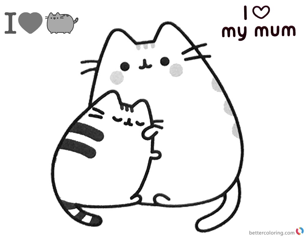Pusheen Cat Coloring Pages In 2020 Cat Coloring Page Pusheen Coloring Pages Cute Coloring Pages