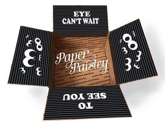 Care Package Sticker Kit - Eye Can't Wait/Halloween Care Package/Military Care Package/box flaps/missionary care package/shipping label/box #spookybasketideasforboyfriend