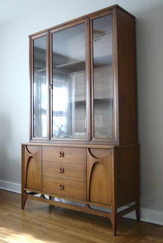 Mid Century Broyhill Brasilia Buffet And China Cabinet 150Grit